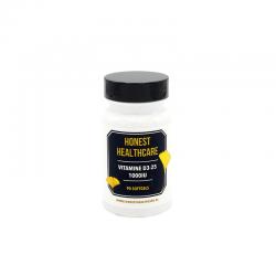 Honest Healthcare Vitamine D3 25 1000IU 90 softgels