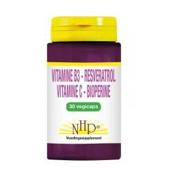 NMN Resveratrol vitamine C bioperine