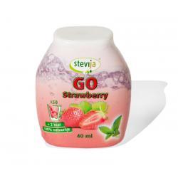Stevia limonadesiroop go strawberry
