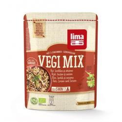 Vegi mix rijst linzen sesam