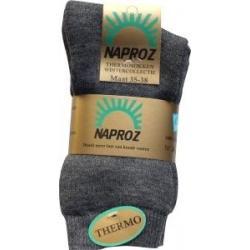 Thermo sokken 35-38 grijs