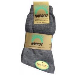 Thermo sokken 39-42 grijs