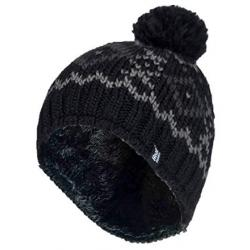 Mens chunky jacquard pom pom hat helsinki black