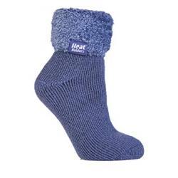 Ladies lounge socks 4-8 dark lavender