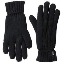 Ladies cable gloves S/M black