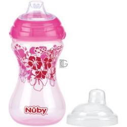 Nuby beker click it easy roze