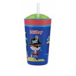 Nuby drink & snack beker blauw