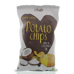 Chips kokosolie gebakken