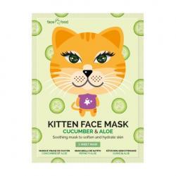Kitten sheet face mask...