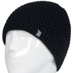Ladies cable hat nora black...