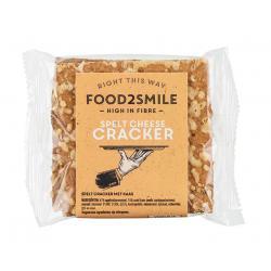 Spelt cheese crackers